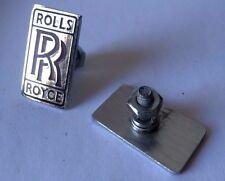 """Rolls Royce Red Letter Medallion / Emblem Set 7/8"""" Wide by 1-1/2"""" High"""