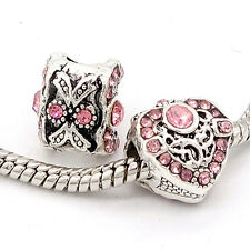 Fashion 1pcs silver heart European Charm BeadS Fit 925 Silver  Bracelet SH708