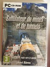 JEU PC neuf _SIMULATEUR DE MINES ET DE TUNNELS_