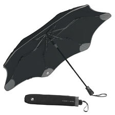 The World's First Traceable Umbrella Blunt XS Metro + Tile - Black with Charcoal