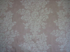 "SANDERSON CURTAIN FABRIC  ""Freya"" 4 METRES  OYSTER PINK & CREAM 100% COTTON"