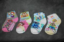 Socks Baby Calcetines 2-3 years NEW 3 pair M-1 Rio 2 Descpicable Me Gusanito