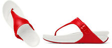 NEW FitFlop Superjelly Sandals Red Flip Flops, Thong, Women Size 10,  $85