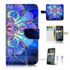 HTC Desire 510 Flip Wallet Case Cover! S8274 Abstract