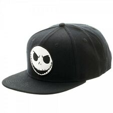 Disney NBX Jack Skellington Black Snap Back Adjustable Hat