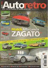AUTO RETRO 375 MASERATI 3500 GT SPYDER VIGNALE MORETTI 1300 PORSCHE 962 JAG XJ