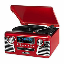 Brand New Victrola 50's Retro Record Player with Bluetooth CD V50-200 Red gift