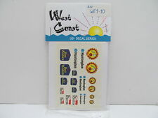 MES-48784 West Coast WE1-10 US Decals 1:87,mit Original Verpackung,