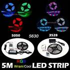 3528 5050 5630 300LED 5M 10M 15M DIY Flexible LED Strip Light+RF Remote+Adapter