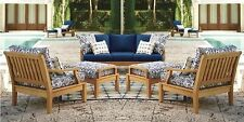 7 PC TEAK SOFA SET GARDEN OUTDOOR PATIO FURNITURE POOL DECK - SACK DINING SET NW