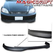 96 97 98 Honda Civic 2D 2DR Coupe CTR BM Carbon CF Urethane Front Bumper PU Lip