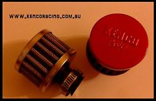 Kenco 9 mm Mini BREATHER FILTER air oil Crackcase vent rocker cover Red Race Car