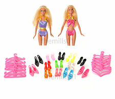 8 pieces Poupée Barbie costume natation de bikini swimwear vêtements bundle lot B2