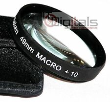 49mm Macro +10 Close-Up Glass  Lens Filter For DSLR SLR  49 mm Lenses