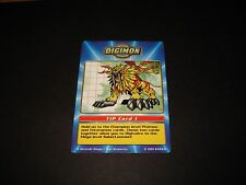 BANDAI DIGIMON TACO BELL TIP CARD 1 SABERLEOMON (A) -FREE COMBINED SHIPPING