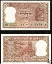 2 Rupees L.K. Jha (Plain Inset) Diamond Issue Tiger @Uncirculated Cond ( B-8 )