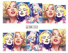 POP Art Marilyn Monroe Full Wrap trasferimenti d'acqua Nail Art Adesivi Decalcomanie