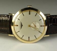 Longines 14K Solid Yellow Gold 17J 19.4 Vintage 1957 Swiss Dress Watch Leather