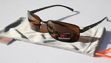 PZ Rectangle Polarized Sunglasses Aluminum frame Fishing brown lightweight