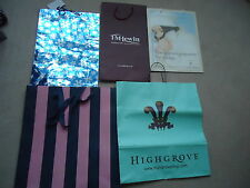 HIGHGROVE, T M LEWIN ,FRENCH CONNECTION ,JACK WILLS & CHRISTMAS CARRIER BAGS