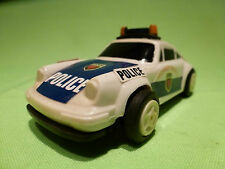 EVERBRIGHT 9111 PORSCHE 911 POLICE CAR PULL BACK PLASTIC 1/43 - GOOD CONDITION