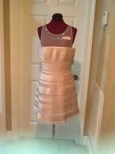 NEW BCBG MAX AZRIA MORGANE EMBELLISHED YOKE DRESS 12
