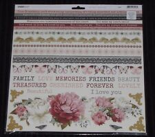 "Kaisercraft 'MA CHERIE' 12x12"" Sticker Sheet Flowers/Butterflies/Floral KAISER"