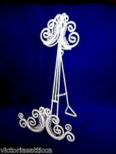 Vintage Very Ornate White Stand or Wall Rack for Collectible Cup & Saucer/Plate