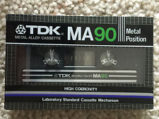 One New Sealed TDK MA 90 1982 Cassette Tape Made in Japan