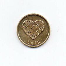 Latvia 24K Gold Plated 1 lats 2011 Gingerbread heart