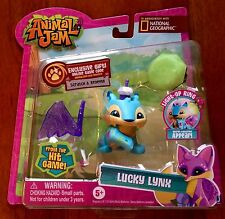 National Geographic Animal Jam Lucky Lynx and Light Up Ring New