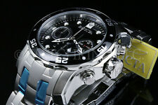 Invicta Men Pro Diver Scuba Black Dial Swiss Made Chrono S.S Bracelet Watch NEW