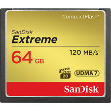 SanDisk 64GB 800x Extreme CompactFlash CF Memory Card (120MB/s) - Brand New