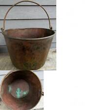 ANTIQUE HAND FORGED COPPER KETTLE CAULDRON