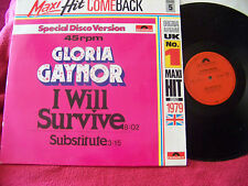Gloria Gaynor - I will survive 8:02 / Substitute    Maxi Hit Comeback   Top