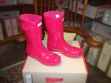 GLOSS HUNTER WELLIES WELLINGTONS  IN HALIFAX SIZE 6 BRIGHT  PINK  SHORT LADIES