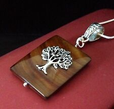Sterling silver Tree Of Life Mother of Pearl Bronze Pendant Necklace