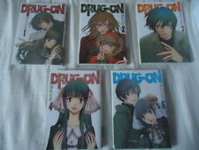 // NEUF /// LOT Drug-on SERIE COMPLETE INTEGRALE SAITÔ Misaki ASUKA MANGA DRUGON