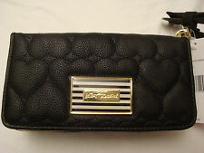 BETSEY JOHNSON BLACK MULTI COMPARTMENT WRISTLET/WALLET WITH REMOVABLE STRAP NWT