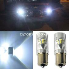 2x 60W 1156 BA15s Samsung 2323 SMD LED Rear Tail Reverse Backup Light Bulb White
