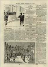 1892 Cremation Of Lord Bramwell Woking Canvassing Provinces Liberal Van