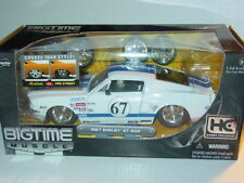 JADA BIGTIME MUSCLE 1967 67 SHELBY MUSTANG GT 500 -White w/Stripes, 1/24