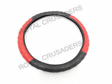 """NEW WILLYS JEEP RUBBER STEERING WHEEL COVER RED & BLACK COLOR 15"""" #G175 (C-9122)"""