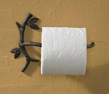 New Rustic Country Cabin Bath TWIG BRANCH TOILET PAPER HOLDER Wall Rack Bar