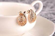 New Banquet Crystal Dangle Earrings Rhinestone Chandelier Piercing Jewelry A4