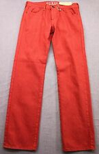 GUESS JR2073 Mens LINCOLN FADED RED SLIM STRAIGHT DENIM JEANS NWT 32 x 32  $98