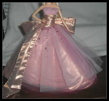 DRESS BARBIE MODEL MUSE HOLIDAY PINK TULLE STUDDED ACCENT EVENING BALL GOWN
