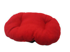 NEW!!! XL / EXTRA LARGE RED FLEECE DOG /  CAT BED CUSHION FOR BOTTOM OF BASKET