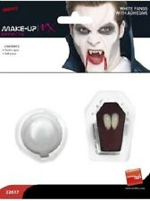 Déguisement Halloween Vampire Dracula Dents Casquettes 2 x Canines & Adhésif by
