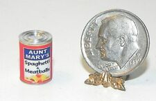 Dollhouse Miniature Spaghetti & Meatballs Can Groceries Hudson River  1:12